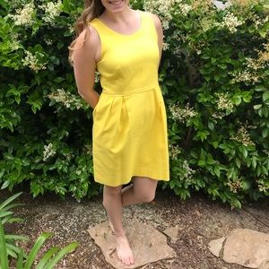 Yellow jcrew dress